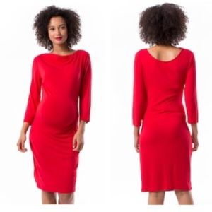 NWT Pip & Vine by Rosie Pope Red Maternity Dress L
